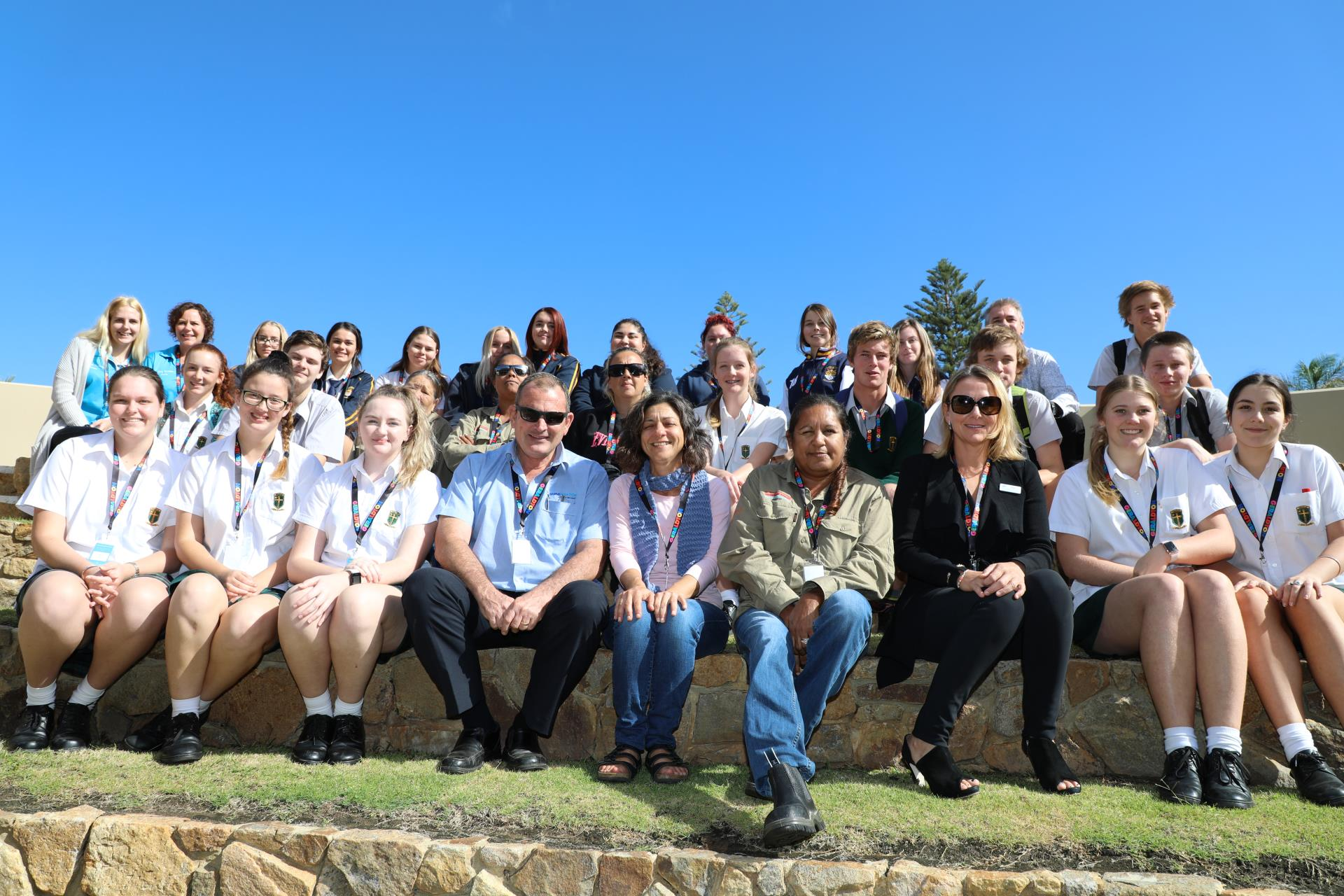 Event industry sponsors John Gooch from Shine Aviation and Pia Boschetti from Latitude Gallery made it possible for Tourism students from Geraldton Senior College, Central West Tafe and Nagle Catholic College to attend the event