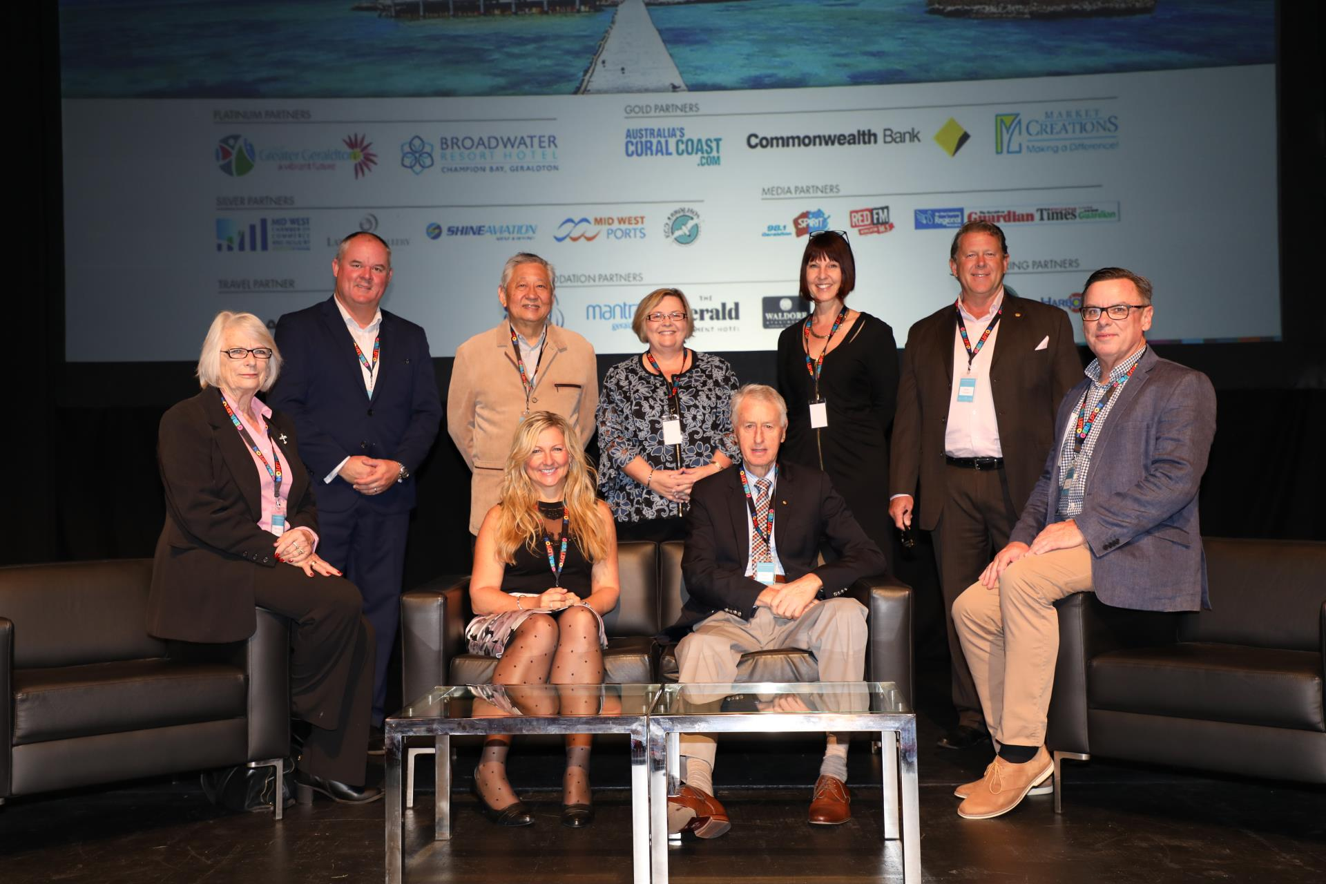 Key tourism industry experts on stage at the Summit